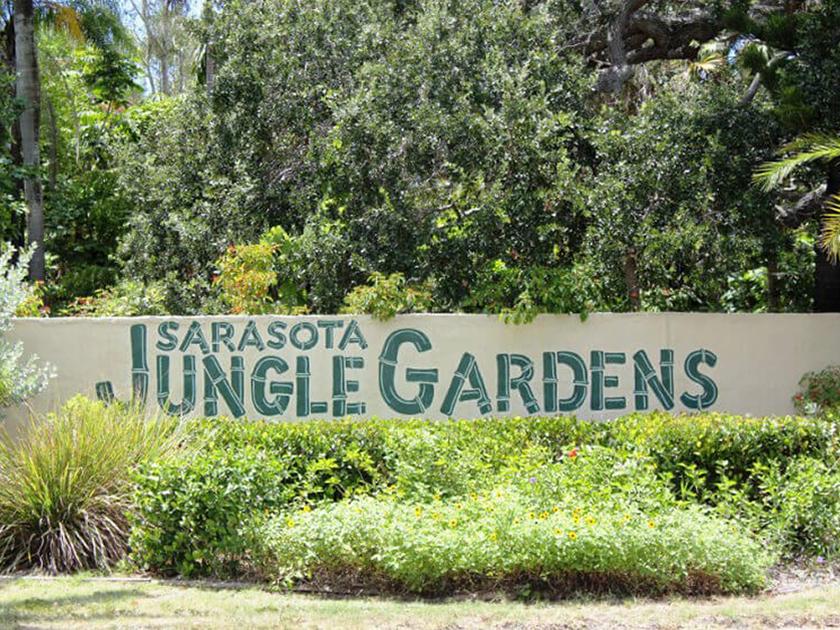 Jungle Gardens sign