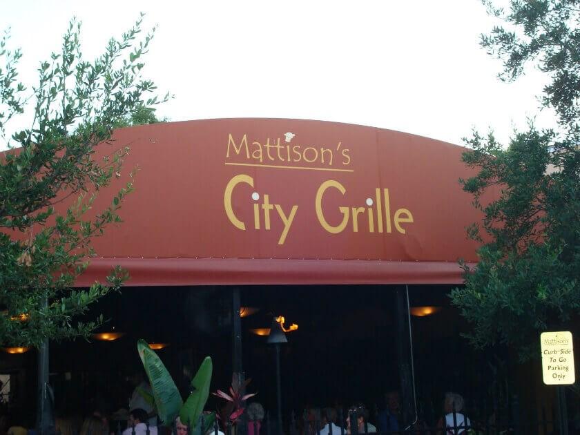 Mattison's city grille outside