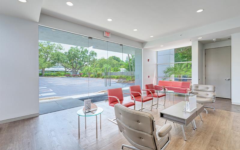 Waiting area at Sarasota Plastic Surgery
