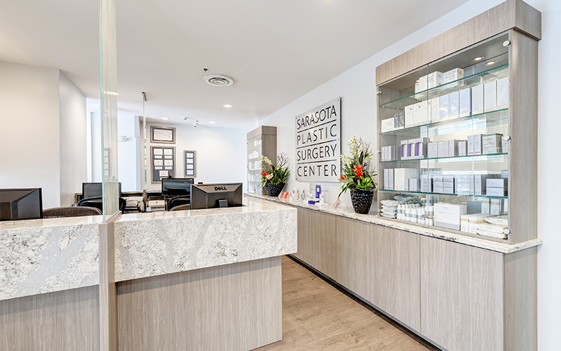 Sarasota plastic surgery front desk and office