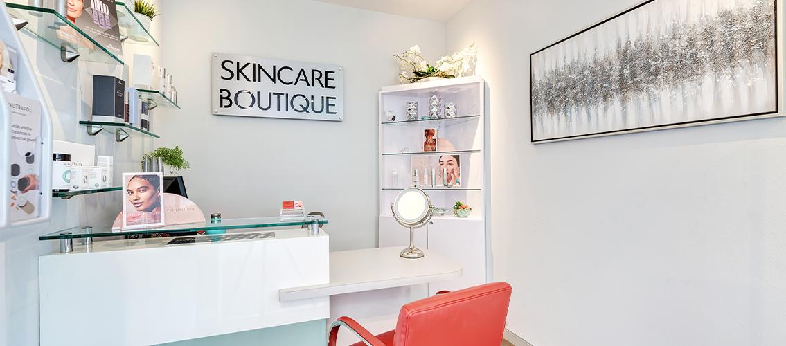 Skincare boutique desk